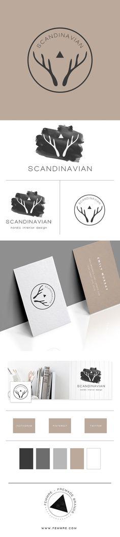 scandinavian minimal premade brand, premade branding, premade logo - FEMMRE - Exclusive Premade Branding