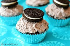 Just showed this to Sid - she is already requesting to take these to school on her birthday!   Life as a Lofthouse (Food Blog): Chocolate Cupcakes with Oreo Buttercream