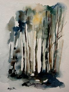 Large Fine Art Print of Original Watercolor Painting Abstract Nature Forest Landscape Watercolor Paintings Abstract, Watercolor Trees, Watercolor Landscape, Landscape Art, Painting & Drawing, Forest Landscape, Watercolors, Abstract Nature, Abstract Trees