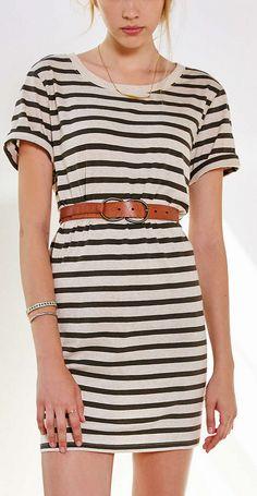 Striped tee-shirt dress