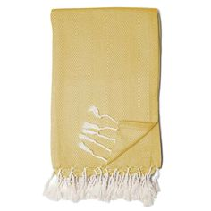 Fisher Throw, Butter Yellow