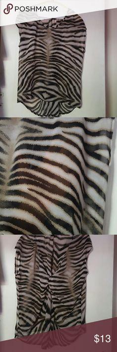 Animal print blouse Animal print sleeveless blouse Tops Blouses