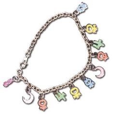 New Official Sailor Moon Planetary Symbol Bracelet! Information on where to buy it here: http://www.moonkitty.net/reviews-buy-sailor-moon-jewelry.php