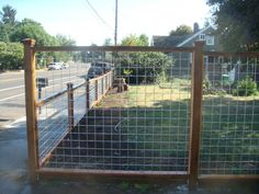 wood and galvanized mesh fence | ... /metal-fences/galvanized-wire-fence-with-pressure-treated-frame