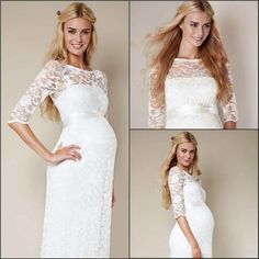 Wholesale Sheer Maternity Wedding - Buy 2015 Sheer Plus Size Maternity Wedding Dresses 3/4 Long Sleeves Sheath Scoop Vintage Lace Long Bridal Gowns, $123.65 | DHgate.com