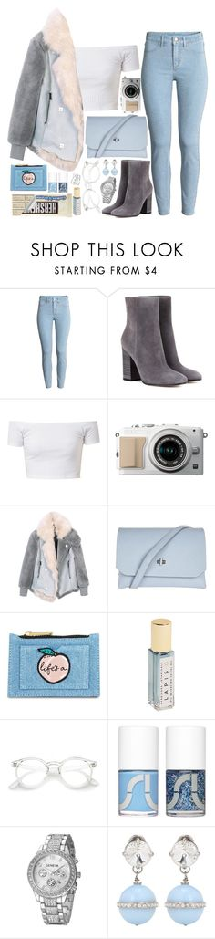 """""""❤"""" by polinachaban ❤ liked on Polyvore featuring Gianvito Rossi, Topshop, Skinnydip, Herbivore, Uslu Airlines and Miu Miu"""