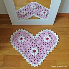 Pretty in pink! The Daisy Rug by BautaWitch - a romantic dream. <3