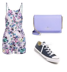 """Untitled #135"" by kamaria-diani ❤ liked on Polyvore featuring mode, Kate Spade en Converse"