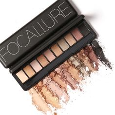 Focallure Fashion 10 Colors Shimmer Matte Eye Shadow Makeup Palette Light Eyeshadow Natural Make Up Cosmetics Set With Brush