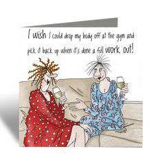 Drop body off at the gym! - Camilla & Rose Blank Greeting Card, Humorous Birthday Card, Cards For Friends by SarahBoddyUK on Etsy Christmas Owls, Christmas Cards, Funny Cards For Friends, Camilla Rose, Wild Animals Photos, Bee Cards, Brown Envelopes, Red Envelope, Funny Birthday Cards