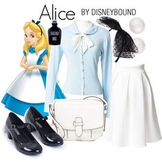 Alice by leslieakay on Polyvore featuring MICHAEL Michael Kors, Majorica, New Look, Disney, disney, disneybound and…