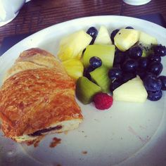 Chocolate Croissant + fruit = My perfect breakfast