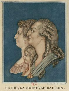 Marie Antoinette, Louis XVI, and their son Louis Charles.
