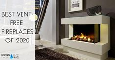 "Water Vapor or ""Steam"" Fireplace Buying Guide - Modern Blaze Ventless Fireplace Insert, Ventless Gas Logs, Vent Free Gas Fireplace, Linear Fireplace, Gas Fireplace Logs, Cozy Fireplace, Fireplace Inserts, Fireplaces, Stone Fireplace Decor"