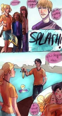 Love this scene! Percy Jackson and Annabeth Chase, The Mark of Athena Percy Jackson Film, Percy Jackson Memes, Percy Jackson Fandom, Percy Jackson Comics, Percy Jackson Annabeth Chase, Percabeth, Solangelo, Mark Of Athena, Magnus Chase