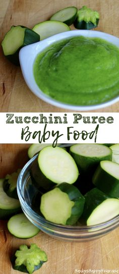 Looking for an easy puree for baby? Try this bright green zucchini puree with a mild flavor and thin consistency, perfect for introducing solids!