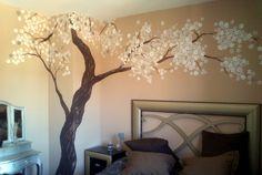 Os dejamos con este #Mural #ArbolEnFlor, para la habitación principal ;) ¿Qué os parece?