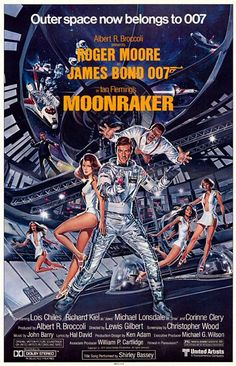 Ian Fleming's Moonraker sees James Bond stopping villians in space. Also the Bond film starring Roger Moore. James Bond Movie Posters, Best Movie Posters, James Bond Movies, Cinema Posters, Roger Moore, Richard Kiel, Vintage Movies, Vintage Posters, 1970s Movies