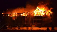 Fire destroys the north wing of a 160-unit apartment building in Fort McMurray Sunday night.