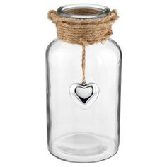 Glass Jar With Silver Pendant