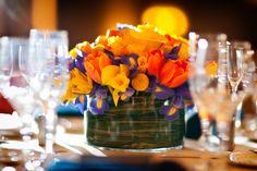 photo by Washington DC based wedding photographers Holland Photo Arts.. I'm becoming a big fan of yellow, orange and purple