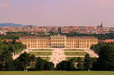 European Palaces, Schonbrunn Palace, Vienna, Austria, Panorama