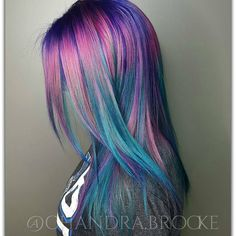 538 Likes, 2 Comments - Stylists supporting Stylists ( - Colleen Clement Neon Hair, Purple Hair, Turquoise Hair, Violet Hair, Pink Purple, Hair Color And Cut, Cool Hair Color, Hair Colors, Pelo Multicolor