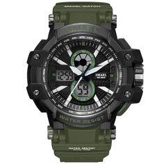 ef2561f27cd5c Sport Watches 50M Waterproof SMAEL Fashion Men Watch S Shock Male Clock  relogios masculino Watch Man 1509B Military Watches Army