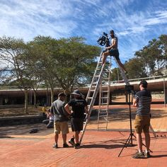 Time to reach for the sky! 🎥 🌤️ ⁠ Set for nearby the Cape Town Stadium⁠ ⁠ Production Company, To Reach, On Set, Cape Town, South Africa, Advertising, Bts, Life
