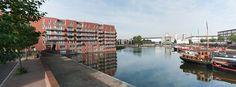 Uitzicht op de Veilinghaven en een deel van de nieuwbouw op het Royco terrein.