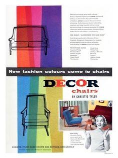 AP2000 - Décor Chairs, Retro Furniture, 1950s (30x40cm Art Print)