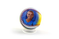 How beautiful is this smile. capture the moment and put it on our high quality softball. It is perfect for birthday, senior night, anniversary, any occasions of the year. Design your own with Make A Ball.