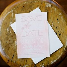 20 Hot Off The Press 'Save-The-Date' Cards A Wash Of Pink – The Knot