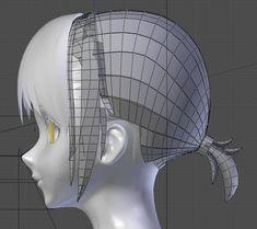 3d Model Character, Character Modeling, Character Design, Maya Modeling, Modeling Tips, Blender 3d, 3d Polygon, Face Topology, Zbrush Hair