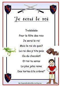 jpg Expand to I will be the king/Queen of. French Class, French Lessons, Gallette Des Rois, French Poems, French Images, Montessori Education, Petite Section, Teaching French, Saint George