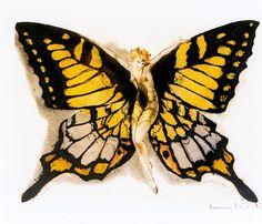 "Louis Icart, ""Fluttering Butterfly"" by sofi01, via Flickr"