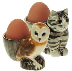 Cat and Oil Egg Cup