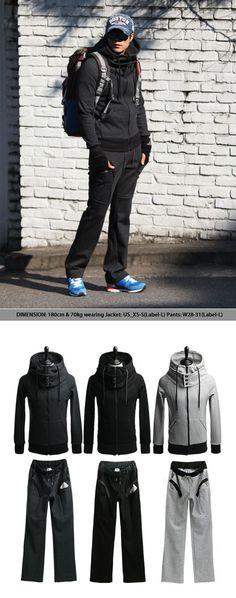 Комплект для спортивной одежды :: Двойная черепаховая шея для тренажерного зала Set-Gymwear 03 - GUYLOOK Мужская модная мода
