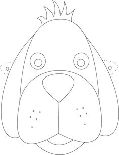 Dog Mask printable coloring page for kids