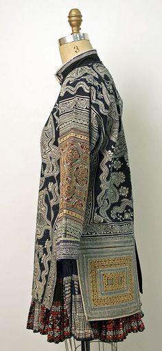 20th century Chinese minority (Miao-Gejia peoples) cotton, silk