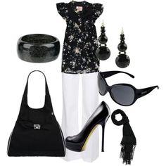 Cute black n white outfit!
