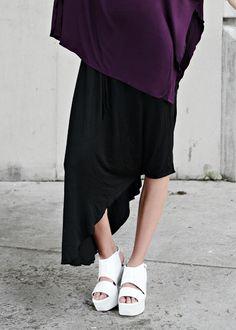 Black Sk-ant Modern Pant Skort Skirt Hybrid
