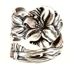 Lily+Spoon+Ring+Lovely+Frontenac+Victorian+Era+by+Spoonier+on+Etsy,+$68.00