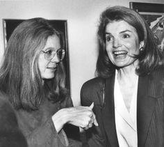 Gloria Steinem and Jacqueline Kennedy Onassis