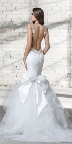 "Pnina Tornai 2019 Wedding Dresses — ""Love"" Bridal Collection pnina tornai 2019 love bridal sleeveless sheer strap v neck heavily embellished bodice tiered skirt elegant mermaid wedding dress ribbon back chapel train bv Dresses Elegant, Stunning Wedding Dresses, Dream Wedding Dresses, Wedding Dress Styles, Designer Wedding Dresses, Bridal Dresses, Wedding Gowns, Wedding Ceremony, Pnina Tornai Wedding Dresses"