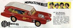 toys of 1969 | Actually, the Corgi one is only one of two Monkeemobiles, the other ...