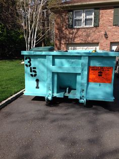 Getting a dumpster when de- cluttering your home is a great idea.