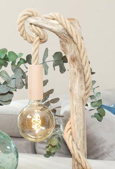 Lampes de table en bois flotté | Ambiance & Nature