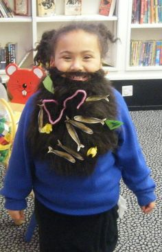 Just seen Mr Twit helping out at #WorldBookDay make it session at Penwortham Library! #beards