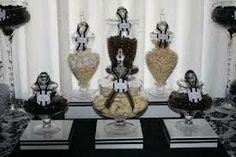 lolly buffet black silver white - Google Search Lolly Buffet, Black Silver, Jar, Google Search, 50th, Table, Home Decor, Decoration Home, Room Decor